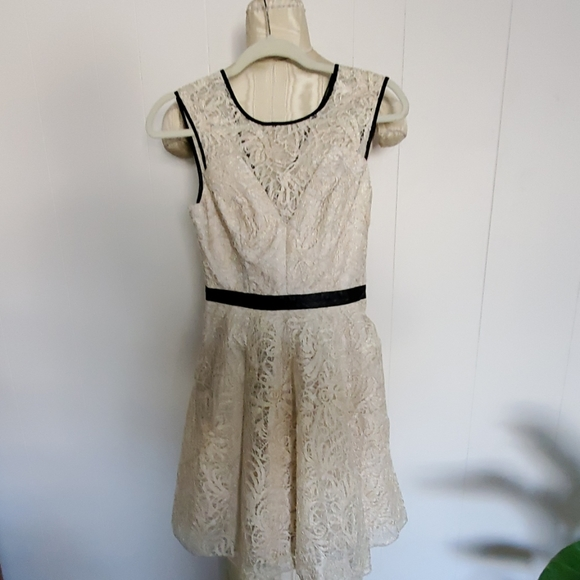 Hayden Dresses & Skirts - Hayden metalic lace  & faux leather trim